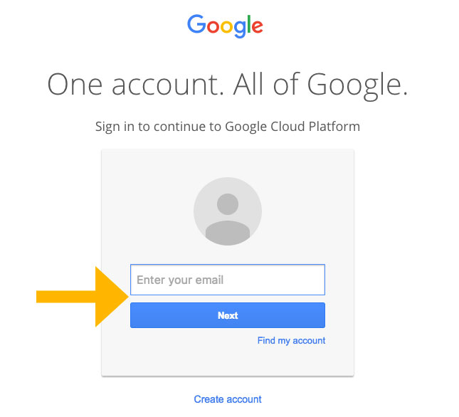 Build backup client that connects to Google Cloud Storage Step1
