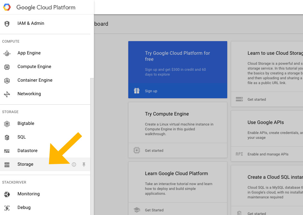 Build backup client that connects to Google Cloud Storage Step3